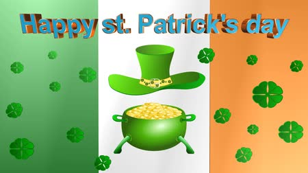 good luck coins : patricks day,animation