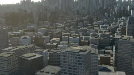 tridimensional : flight over 3d city - high quality 3d animation