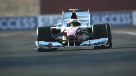 formuła : Formula One race car on desert circuit - finish line - high quality 3d animation  Wideo