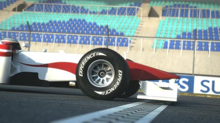 formuła : Formula One race car  crossing finish line - high quality 3d animation