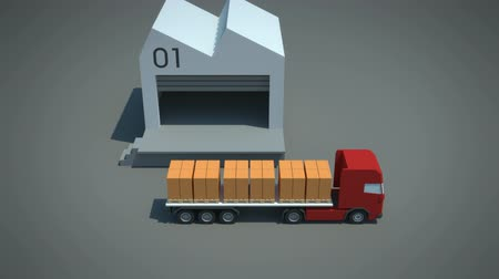 перевозка груза : load  shipment consolidation strategies - continuous moves - stylized high quality 3d animation