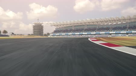 kendi : POV shot of a race car driving along the race track - realistic high quality 3d animation - my own car design - no copyrighttrademark infringement
