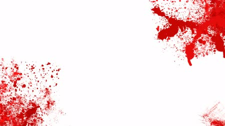 matar : Blood splashes over white background