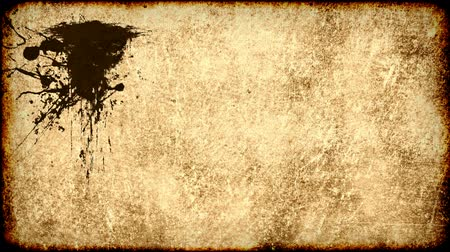 yırtık pırtık : Ink stains on old grungy worn paper background