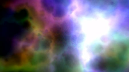 sen : Abstract color clouds background (seamless loop) Wideo