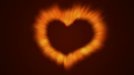 yanmak : Loopable fire love heart animation (seamless loop) Stok Video