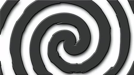 hipnoza : Black and white cartoon hypnosis circle (seamless loop)