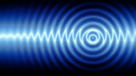 radio wave : Blue high-tech abstract background (seamless loop)