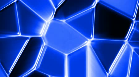 cristalino : Abstract blue mosaic motion background seamless loop
