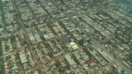 barrio : Volando sobre Hollywood en Los Angeles, California.