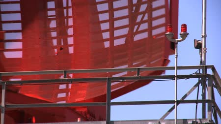 no traffic : Red airport radar rotating on top of a tower near LAX.  Variations also available