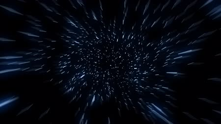 hyperspace : Flying through hyper space with stars zooming past the camera. This can be cut into a seamless loop as the particles recycle consistently.