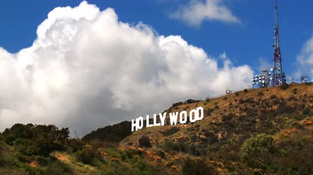 jel : Time lapse clouds billowing over the Hollywood sign.