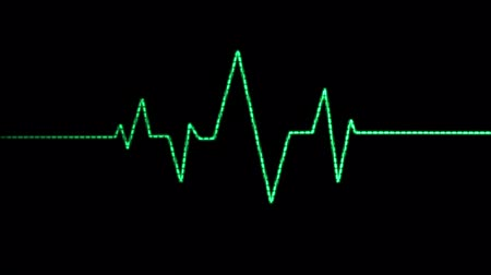 pulso : A loopable animation blip of a heart beat being displayed by a green Electrocardiogram (EKG or ECG).