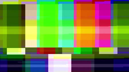pulsate : Color Bars Data Glitches (60fps). A looped set of color bars experiencing technical difficulties, being distorted with data glitches, dropped pixels, signal interference and other digital anomalies.