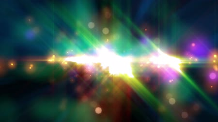 psicodélico : Psychedelic Stars (25fps). A vibrant and colorful blend of random lights flickering, flashing and streaking. The camera moves through the animated layers of bokeh star particles, creating a dynamic but trippy and psychedelic background.
