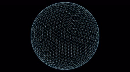 aberration : Retro 3D Vector Sphere Wireframe. Wireframe of a sphere with holographic flicker and chromatic aberration for screen replacements and simulation.