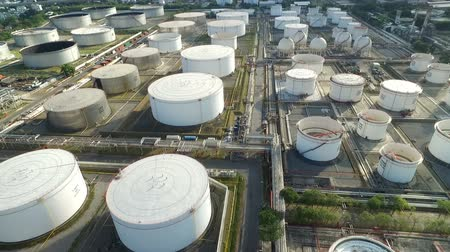 Aerial view of an oil terminal