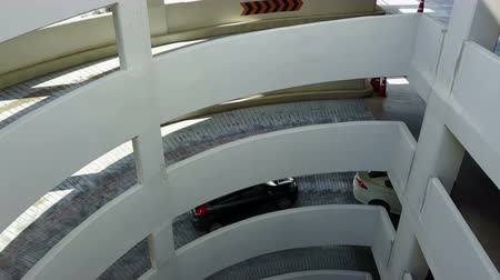 no ramp : 4K Spiral driveway into a multi storey car park