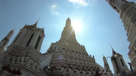 phraya : 4K Wat Arun Bangkok Thailand. Also known as temple of the dawn