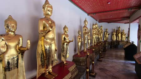wat pho : Magnificent statues in temple Wat Pho Bangkok, Thailand