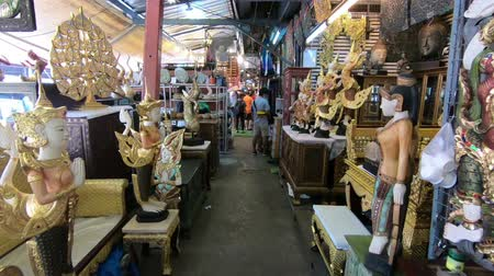 mianmar : Bangkok, Thailand - March 11, 2017 : View of antiques shop at Chatuchak Market. Chatuchak Market is the largest market in Thailand
