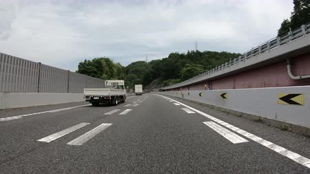 complicado : Tokyo, Japan - June 22, 2018 : POV from a running vehicle on highway at Japan