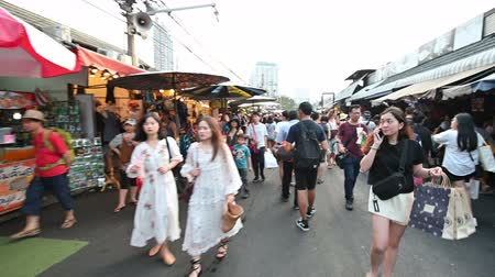 foreigner : Bangkok, Thailand - December 22, 2018 : The Chatuchak or Jatujak weekend market is popular tourist destination open on saturday and sunday
