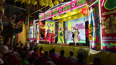 Bangkok, Thailand - October 2, 2019 : Classic chinese opera performance on stage