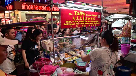 Bangkok, Thailand - December 11, 2019 : Thai curry street food vendor at Chinatown, Bangkok
