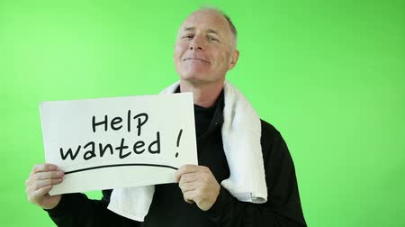 auxiliar : Senior caucasian sport man green screen needing help