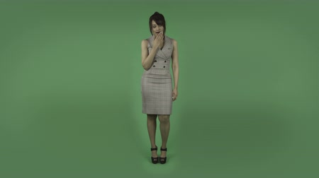 nuda : indian business woman isolated on greenscreen chroma green background Dostupné videozáznamy