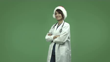 felnőtt : indian female doctor isolated on greenscreen chroma green background