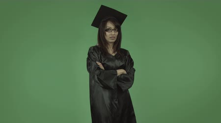 indian ethnicity : adult student graduate isolated on greenscreen chroma green background