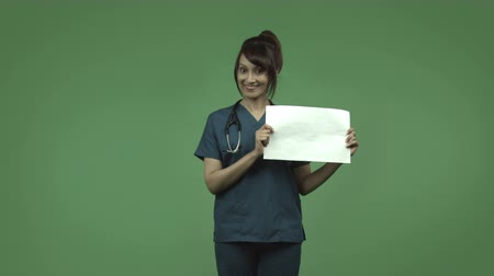 jel : indian female doctor isolated on greenscreen chroma green background