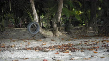 greater : Tyre swing on the seashore, Trinidad, Trinidad and Tobago