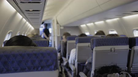 samoloty : inside of  plane waiting to take off shot in 4k