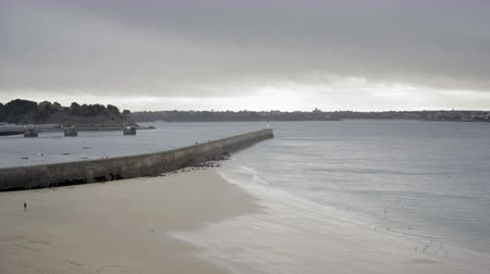 st malo : view of st-malo in France Brittany winter