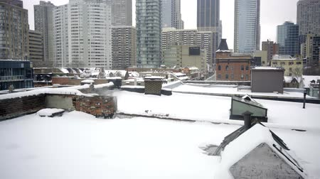 toronto downtown view during winter snow and cold Dostupné videozáznamy