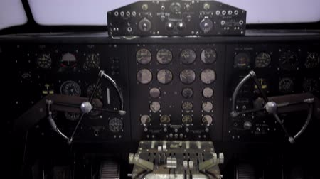 bitola : inside a plane pilot with a the instruments