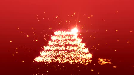 рождественская елка :  movement of light particles that create a Christmas tree.
