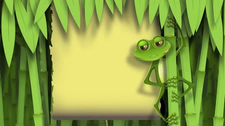 papyrus : frog in the jungle Stock Footage