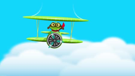 olhos verdes : merry green frog pilot in the plane  sound effect author