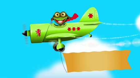 triton : merry green frog pilot in the plane  sound effect author