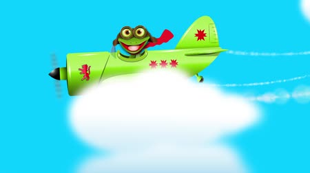 triton : Frog on a green plane Stock Footage