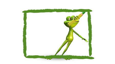 triton : Animation frog and green background
