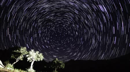 perseids : Turgutreis under the stars Stock Footage