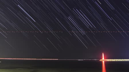 A beach under the stars Stock Footage