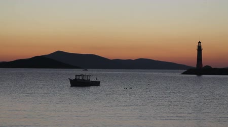 aegean sea : Seaside town of Turgutreis and spectacular sunsets
