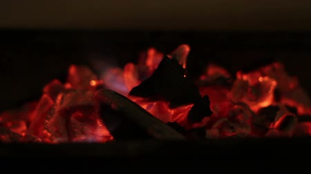 fire in the fireplace, red fire